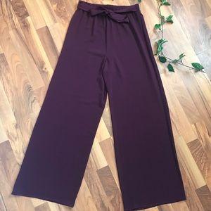 Forever 21 Hi-Waisted Tie Dress Pants